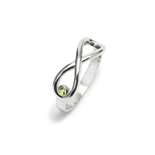 Infinity - Pierścionek z oliwinem