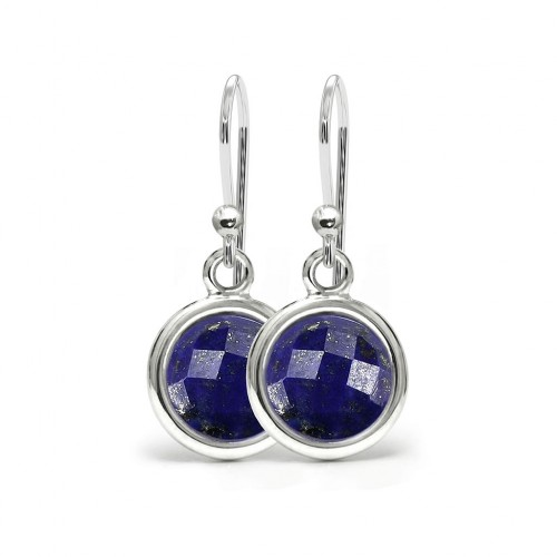 Aura - Srebrne kolczyki z lapisem lazuli
