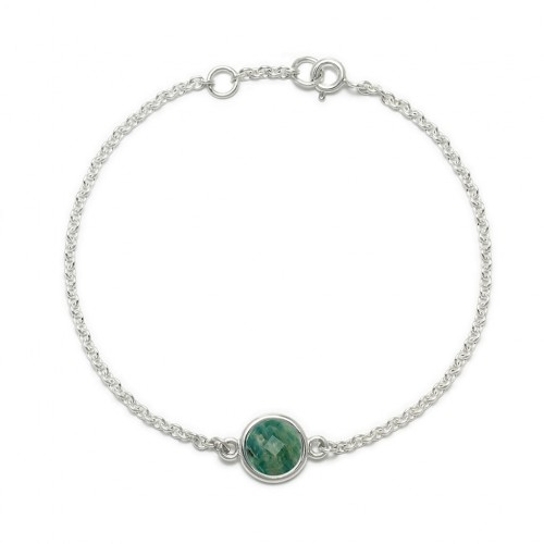 Aura - Bransoletka srebrna z amazonitem