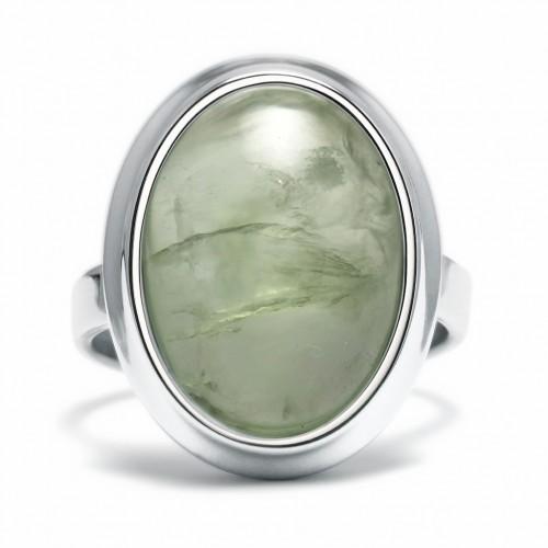 Stone - Pierścionek z prehnitem
